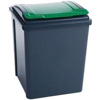 VFM Grey/Green 50L Recycling Bin/Lid