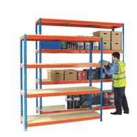 Orange/Zinc H/Duty 180x75cm Shelf 378858
