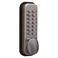 Lockit Chrome Push Button Digital Lock