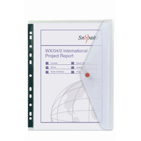 Snopake Polyfile Clear Ring Binder Wallet Pack of 5 12566
