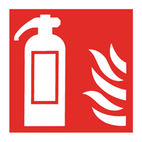 Fire Extinguisher Icon 100mm Sf-Adh Sign