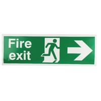 Fire Exit Man Arrow Right 150x450mm Sign
