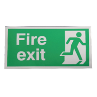 Fire Exit Right 150x300mm Self-Adh Sign