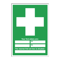 First Aid 60x45cm PVC Sign