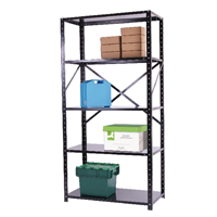 St/Solutions Black Bolted 5-Shelf Unit