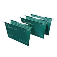 Rexel Crystalfile Classic Standard Foolscap Links Green Pk 50 3000030