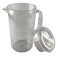 Clear Polycarbonate Jug with Lid 1.4 Ltr