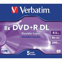 Verbatim DVD+R 8X Dbl Lyr NonPrint 43541