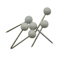 Map Pins White Pack of 100 26871