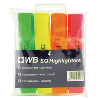 Assorted Hi-Glo Highlighters (Pack of 4) 7910WT4