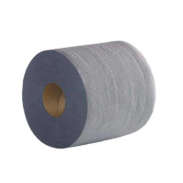 2Work Economy Centrefeed Roll 2-Ply 100m Blue (Pack of 6) 2W03010