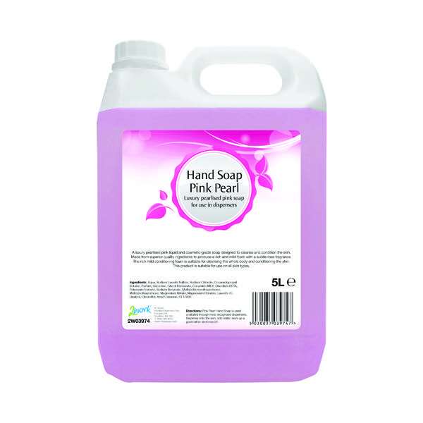 2Work Pink Pearl Hand Soap 5 Litre 2W03974