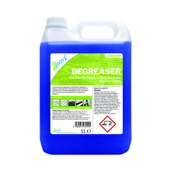 2Work Kitchen Cleaner and Degreaser 5 Litre 301