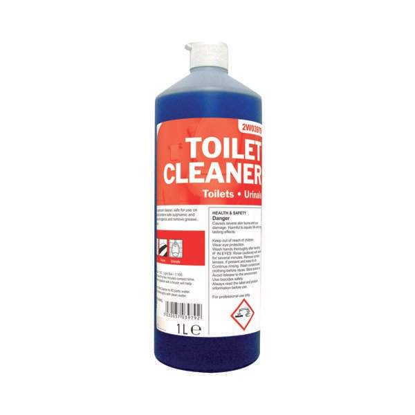 2Work Daily Use Perfumed Toilet Cleaner 1 Litre (Pack of 12) 2W04577
