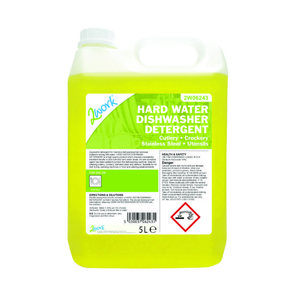 2Work Hard Water Dishwasher Detergent 5 Litre 303