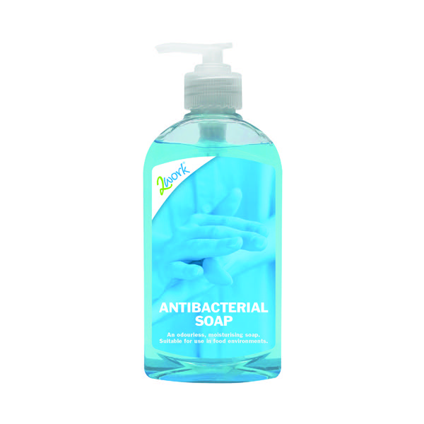 2Work Antibacterial Pump Hand Soap 300ml (Pack of 6) 213