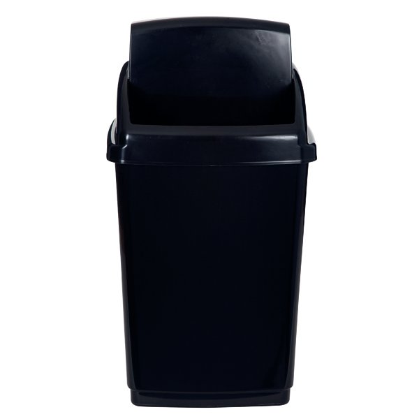 Image for 2Work Black Swing Top Bin 50 Ltr