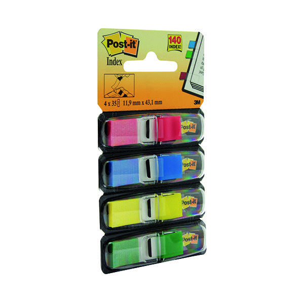 Post-it Small Index 12mm Standard Colours (Pack of 4x35) 683-4
