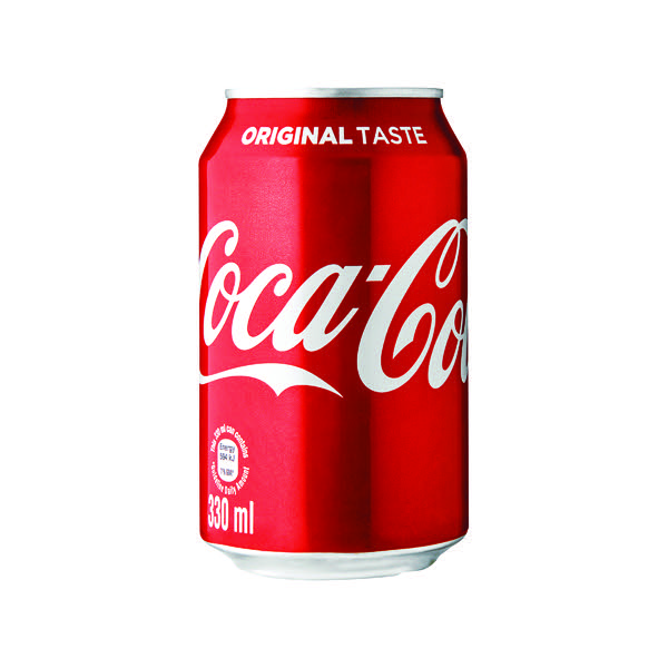 Coca-Cola Soft Drink 330ml Can (Pack of 24) 402002