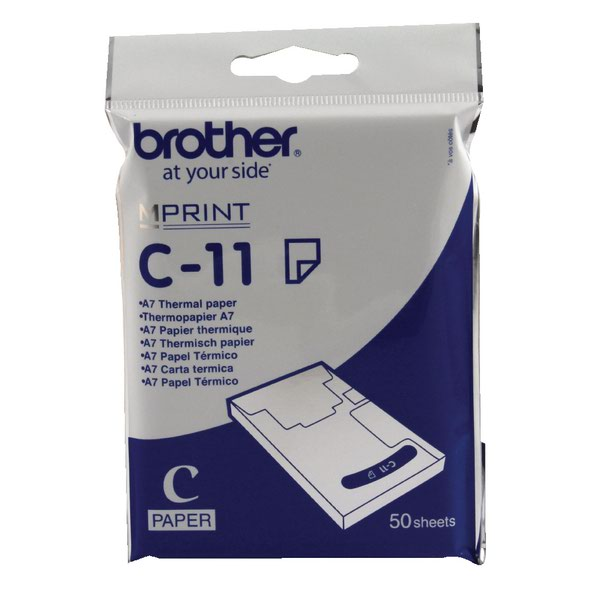 Brother Thermal Printer Paper A7 White (Pack of 50) C11