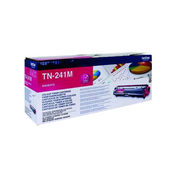 Brother TN-241M Magenta Laser Toner Cartridge TN241M
