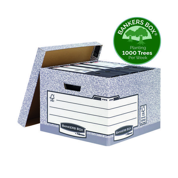 Bankers Box Storage Box Large Grey (Pack of 10) 01810-FFLP