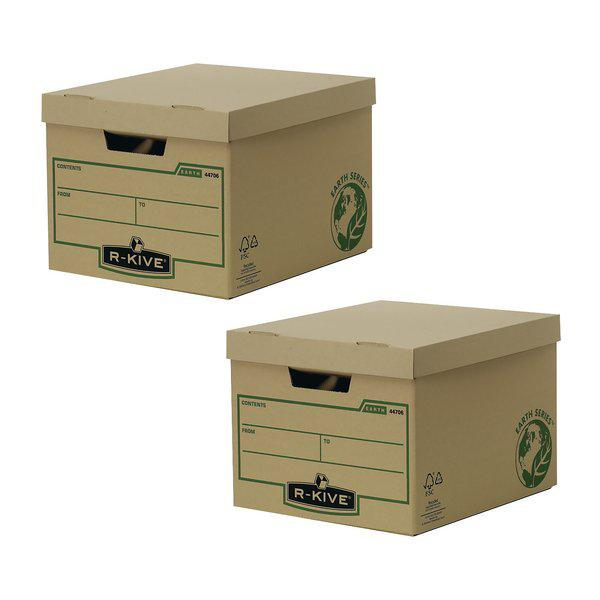 Bankers Box Brown R-Kive Earth Storage Box (2 Packs of 10) BB810443