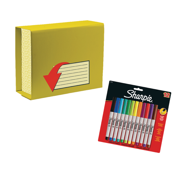 Fellowes Heavy Duty 330x370mm Mailbox (Pack of 10) with Free pack of 12 Sharpies BB810536