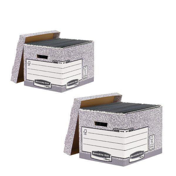 Bankers Standard Storage Box Grey (2 Packs of 10) BB810537
