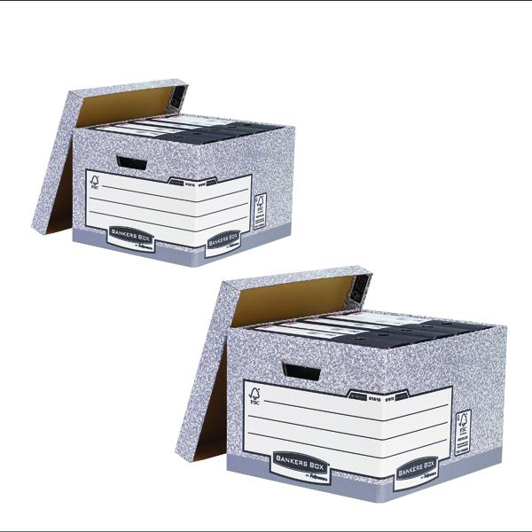 Bankers Large Storage Box Grey (2 Packs of 10) BB810538