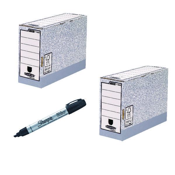 Bankers Standard Desktop Sorter 5 Pack FOC Transfer Files 10 Pack + Black Markers 12 Pack BB810550