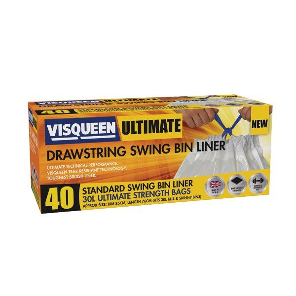 Visqueen Swing Bin Liner 30L Pk40