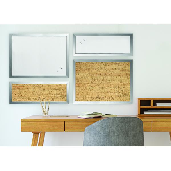 Bi-Office Positive Flow Metallic Silver Personal Boards Assorted Pack of 4 SOR035