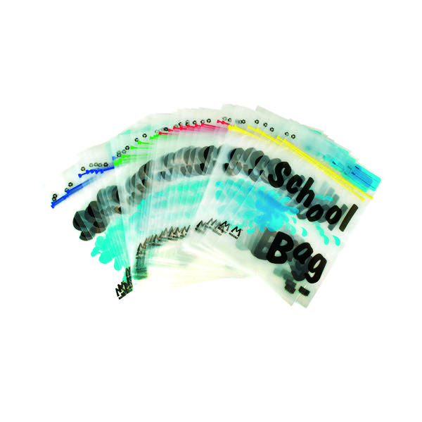 BDS Maxigrip School Bag A4 Clear (Pack of 40) HEMSBA4