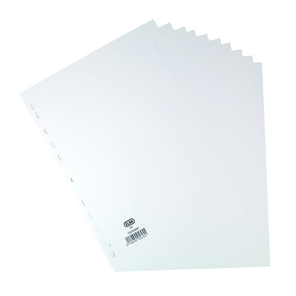 Elba 10-Part Divider 160gsm White A4 100204881