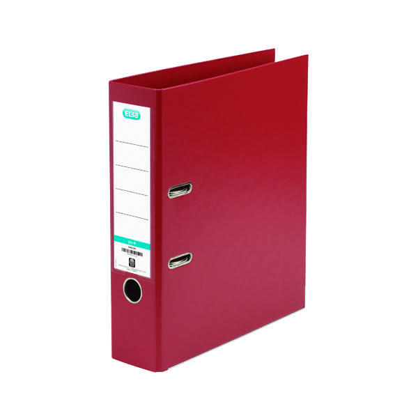 Elba A4 Red Plastic Lever Arch File 1450-09