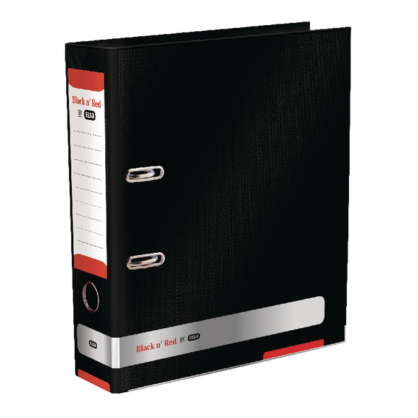 Black n Red A4 Lever Arch File 70mm (Pack of 2) BX810412
