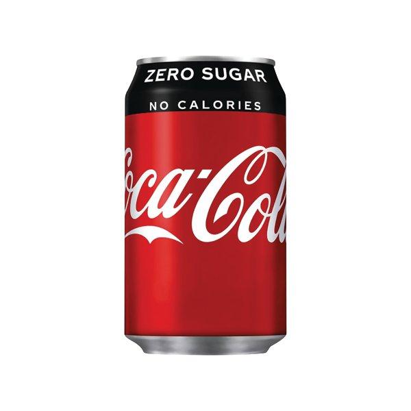 Coke Zero Soft Drink 330ml Can (Pk 24) 0402003