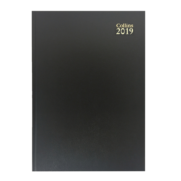 Collins A5 Desk Diary Week to View 2019 Black 35