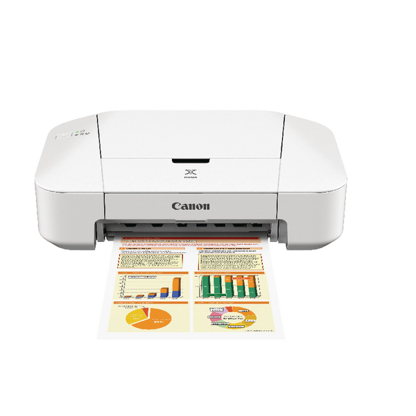 Canon Pixma iP2850 Inkjet Photo Printer White 8745B008