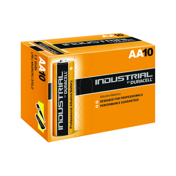 Duracell Industrial AA Alkaline Batteries (Pack of 10) 5000832