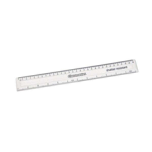 Classmaster Shatter Resistant Ruler 30cm White (Pack of 100) SPR30WH/100