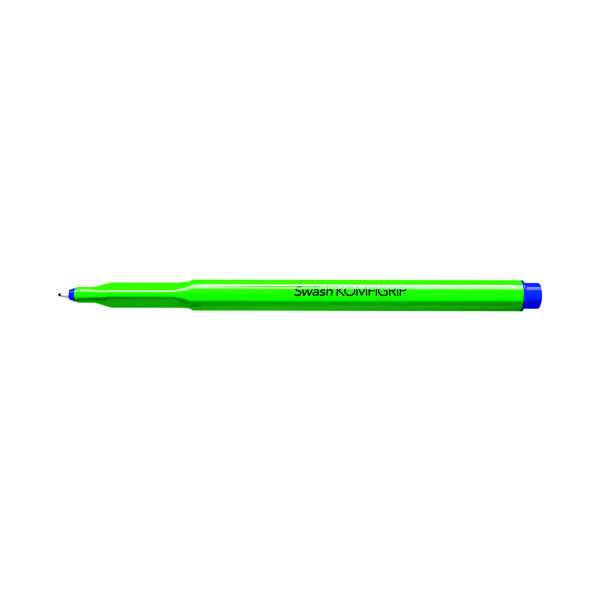Swash Komfigrip Handwriting Blue Pen (Pack of 12) THW12BU
