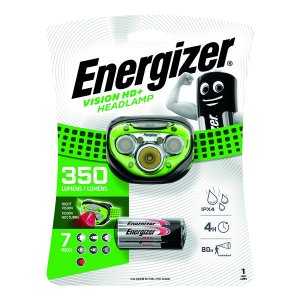 Energizer Vision HD Plus Headlight 3AAA E300280600