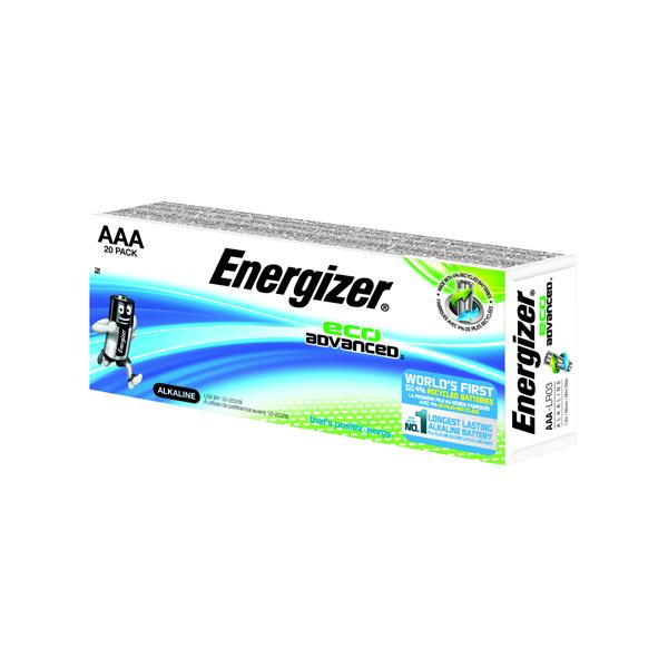 Energizer EcoAdv AAA Batteries E92 Pk20