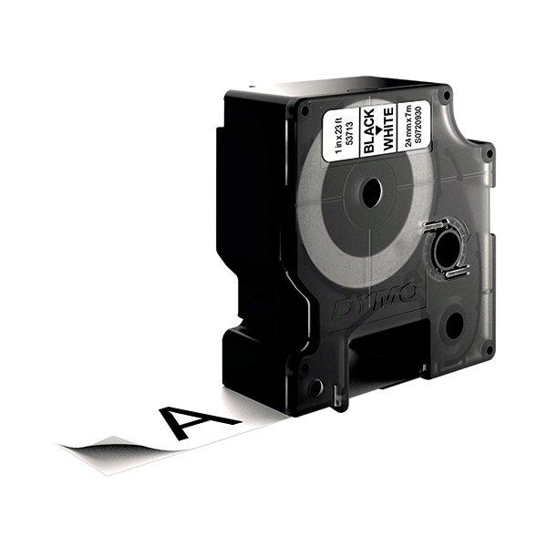 Dymo 53713 D1 Labelmaker Tape 24mm x 7m Black on White S0720930