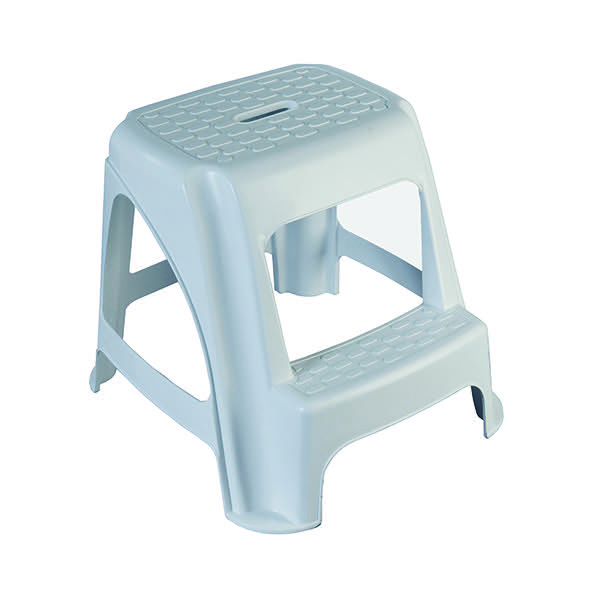 GPC White Plastic Step Stool HE400Z