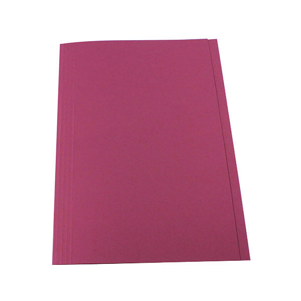 Guildhall Square Cut Folder 315gsm Foolscap Pink (Pack of 100) FS315-PNKZ