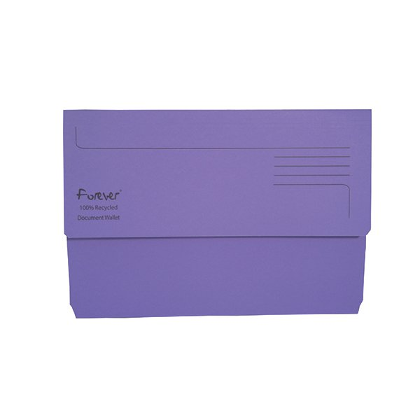 Guildhall Forever Bright Purple Document Wallet Pack of 25 211/5005