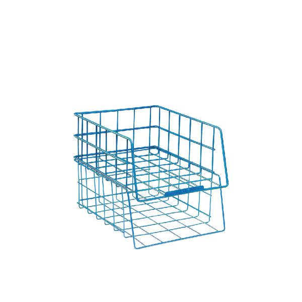 Wire Filing Tray Large Capacity Blue WB999BL